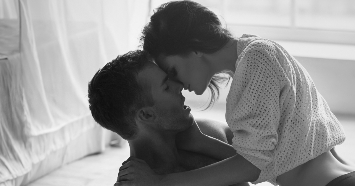 Moaning while kissing